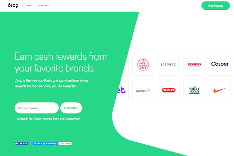 Use Drop  earn free gift cards