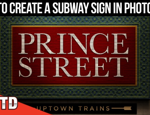 Create a subway sign in Photoshop