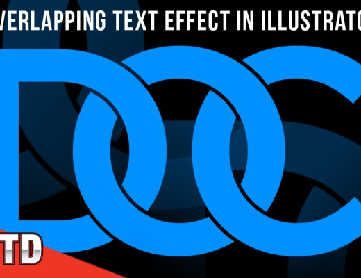 Overlapping text effect in Illustrator