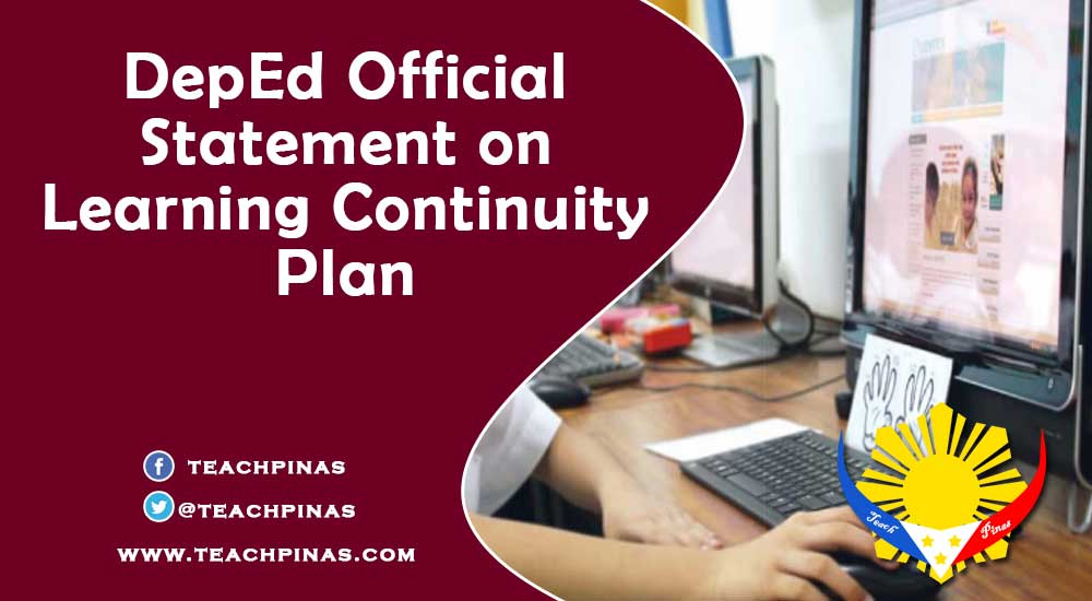 DepEd Official Statement on Learning Continuity Plan