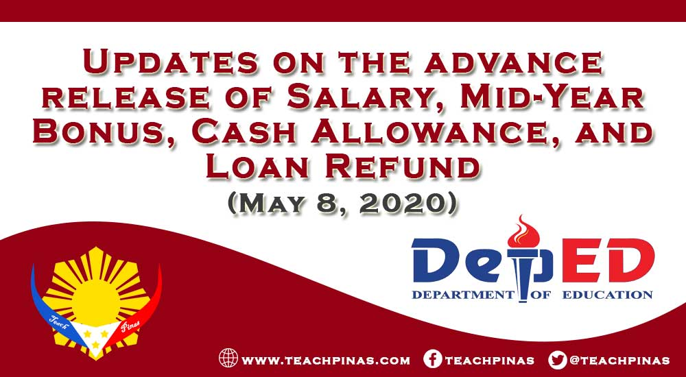 Updates on the advance release of Salary, Mid-Year Bonus, Cash Allowance, and Loan Refund