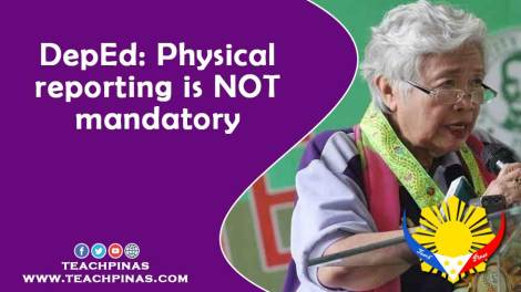 DepEd: Physical reporting is NOT mandatory