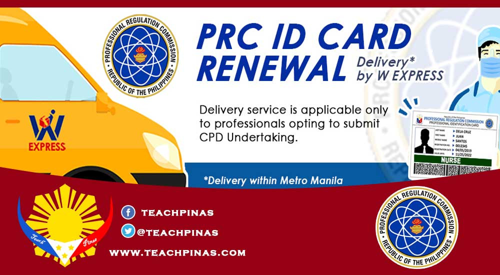 PRC delivery service for the renewal of Professional Identification Card