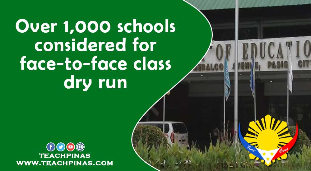 Over 1,000 schools considered for face-to-face class dry run