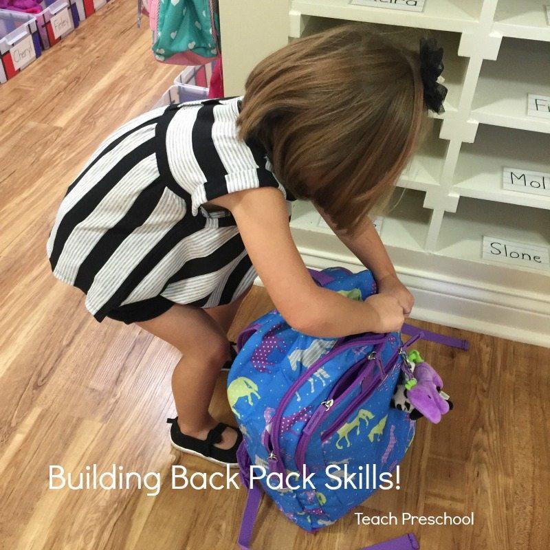 Building back pack skills in preschool