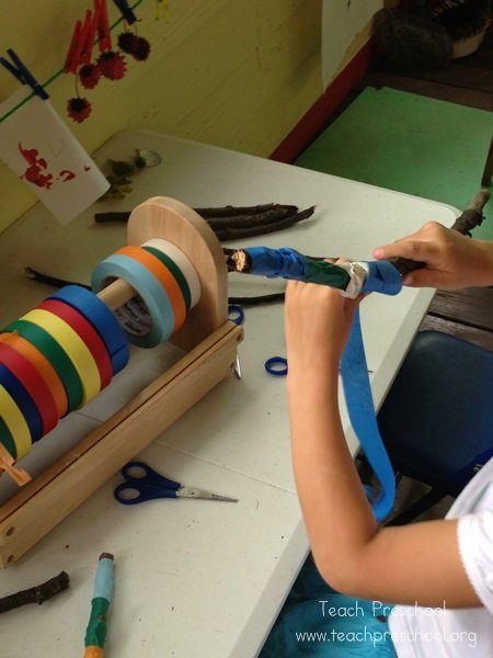 The value of tape in the preschool classroom