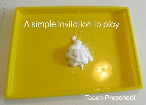 A very simple invitation to sensory play