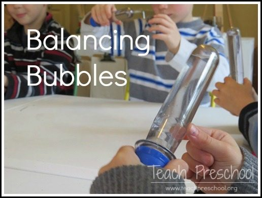 Balancing bubbles in preschool