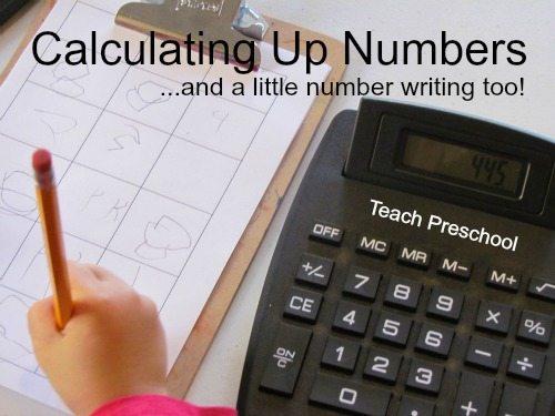 Calculating up numbers in preschool
