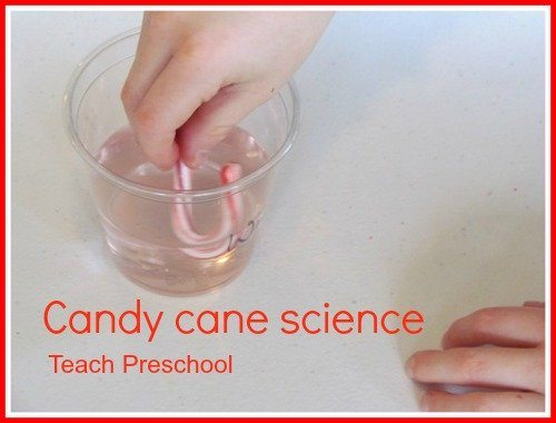 Candy cane science in preschool