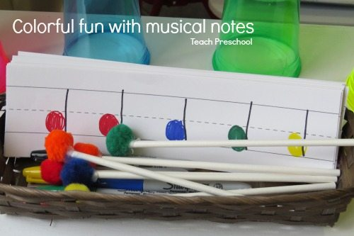 Colorful fun with musical notes