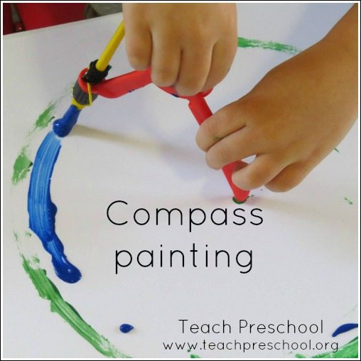 Painting circles with a compass