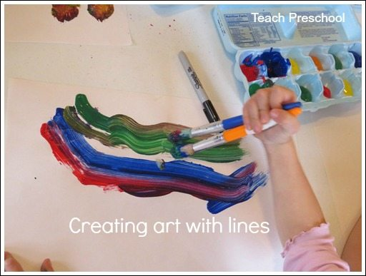 Creating art with lines