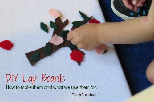 DIY Lap boards for preschool