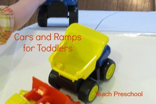 DIY ramps and cars for toddlers