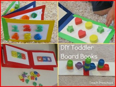 A round up of DIY toddler board books