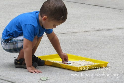 One-inch sandbox play