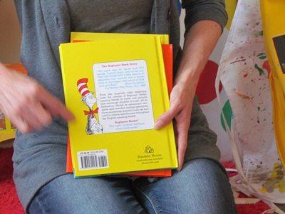 Exploring Dr. Seuss stripes in preschool…