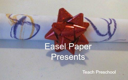 Easel paper presents
