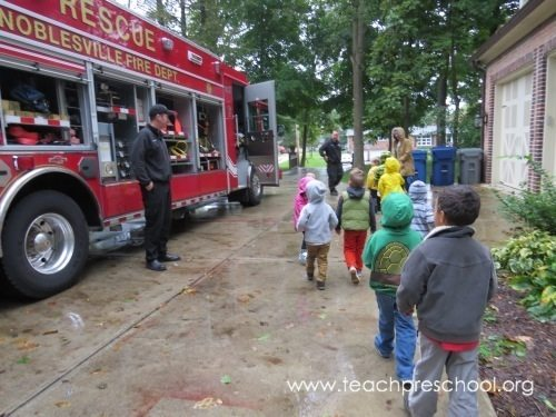 Stop, Drop, and Roll : Fire safety week in preschool