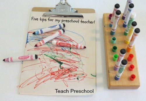 Five tips for my preschool teacher