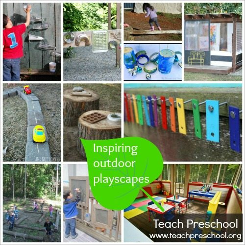 Inspiring outdoor playscapes