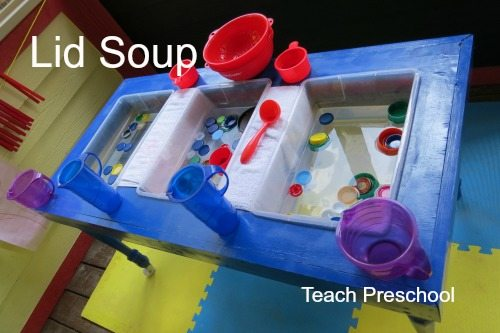 Building life skills with lid soup!