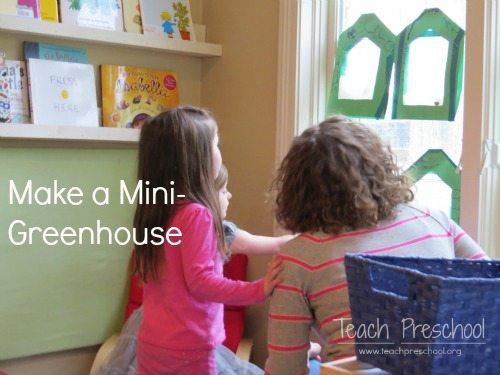 Creating a mini-greenhouse in preschool