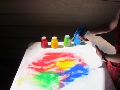 Colorful sprinkle paint pictures