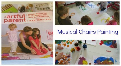Musical Chairs Art: inspired by The Artful Parent