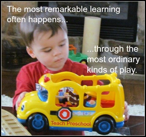 Remarkable learning through ordinary play