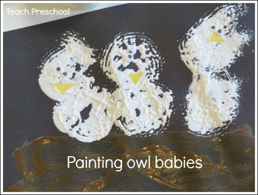 Painting owl babies