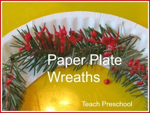 Pine needle paper plate wreaths are simply beautiful