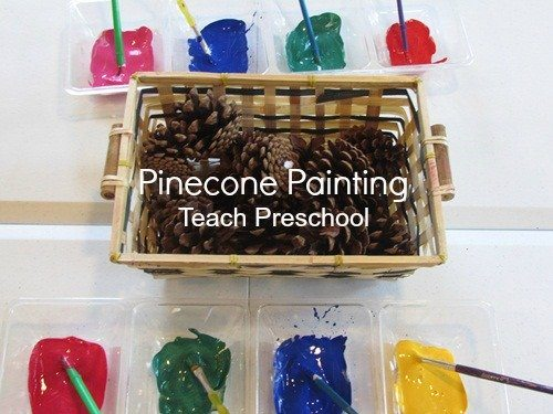 Pinecone painting is really quite fun!