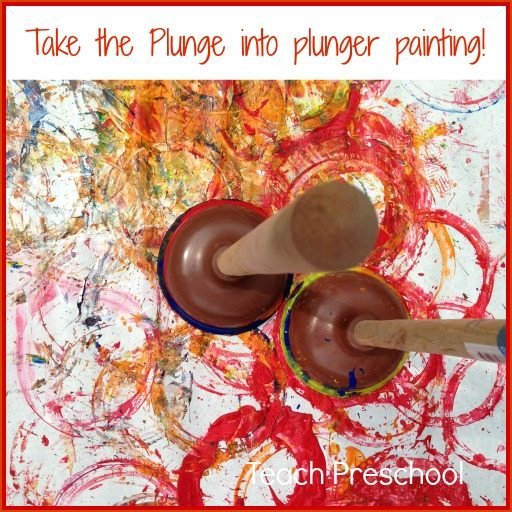 Take the plunge into plunger painting!