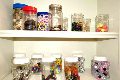 The collection jars for preschool