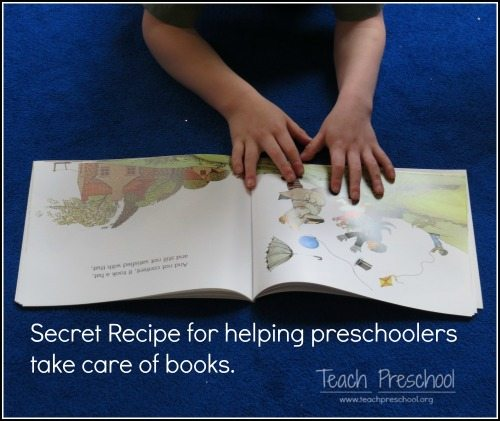 The secret recipe for inviting children to take care of books in the preschool classroom