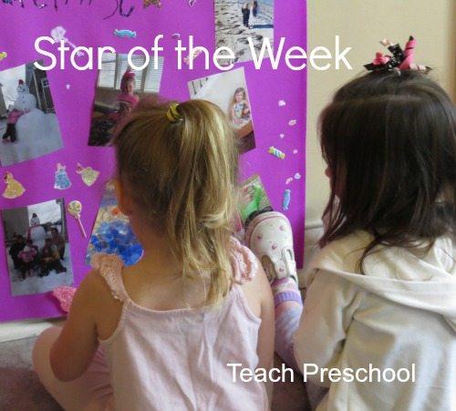 Star of the week in preschool