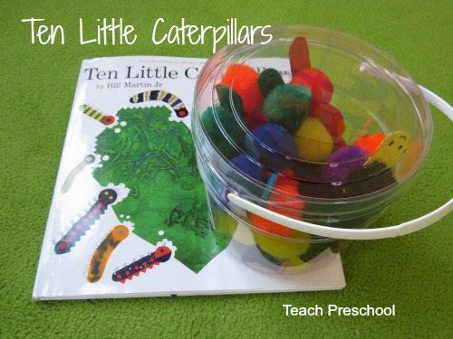 Ten little caterpillars in a jar