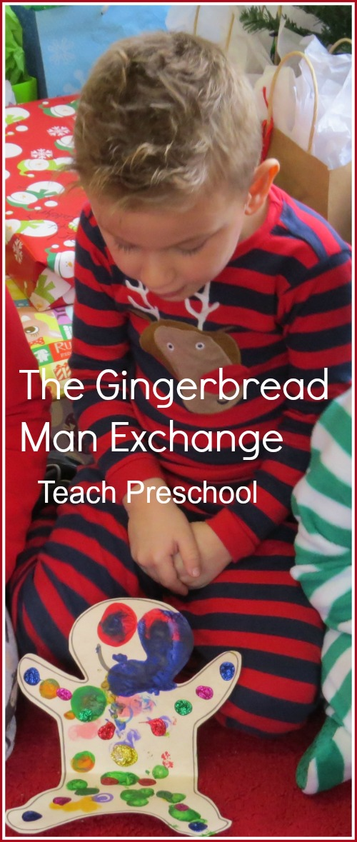 Gingerbread man exchange in preschool
