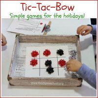 Tic-Tac-Bow: Simple games for the holidays