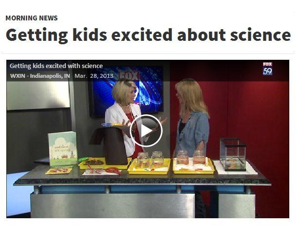 Gummy worm science on Indiana Fox 59 morning news