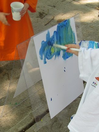 Simple easels for outdoor painting