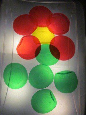 DIY light table for preschool