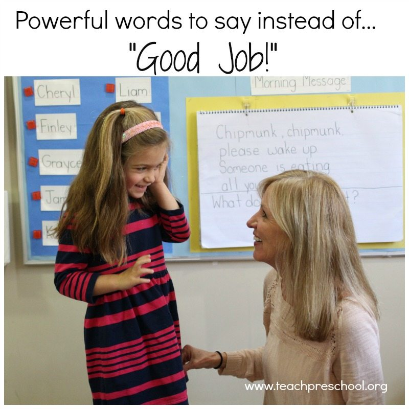 "Powerful words to say instead of ""good job!"""