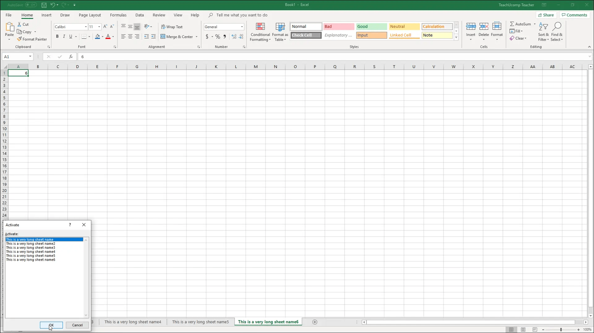 Navigating Worksheets In Excel