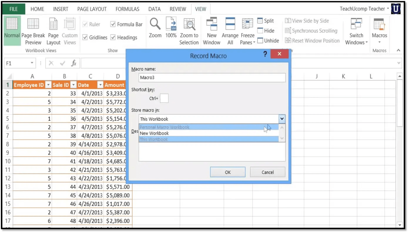 Recording Macros In Excel Microsoft Training