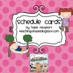 FREEBIE Schedule Cards!