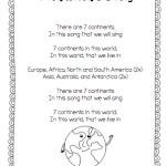 Singing our way through the day… continents and area babyyyyy