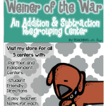 Weiner of the War: A Math Center FREEBIE!